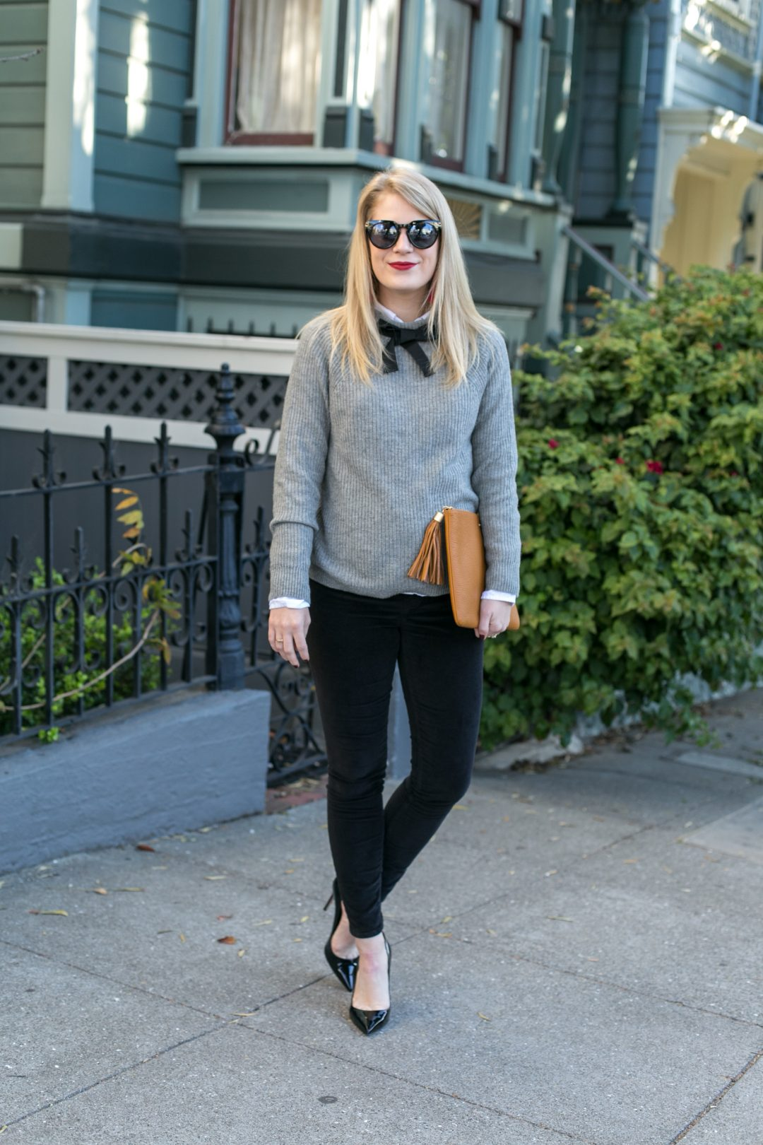 Bow Neck Sweater.