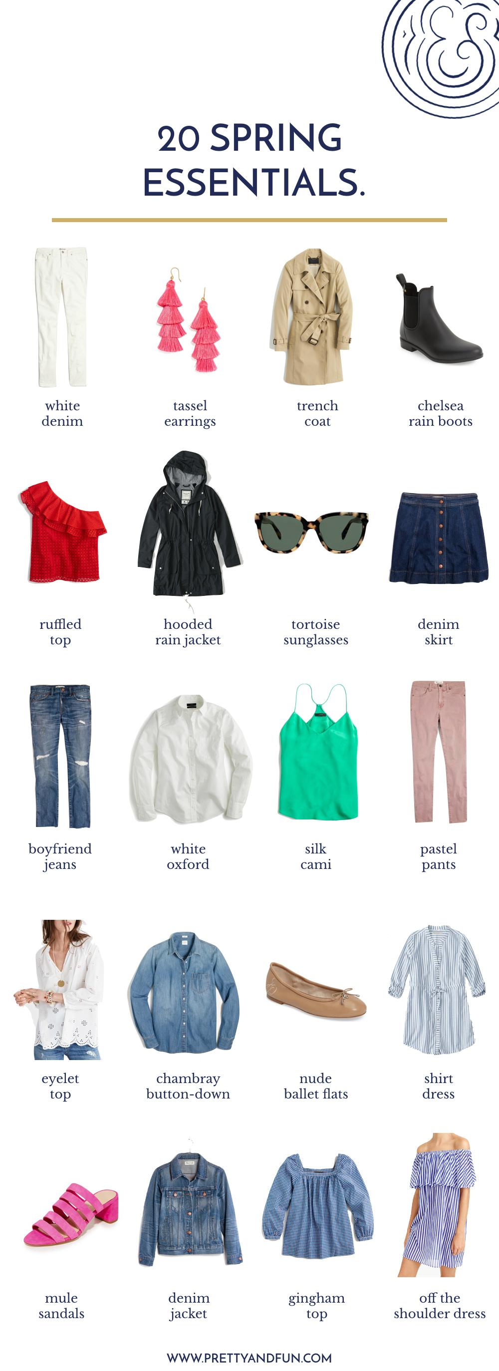 Spring Wardrobe Essentials.