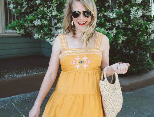 Sunny Yellow Madewell Midi Dress.